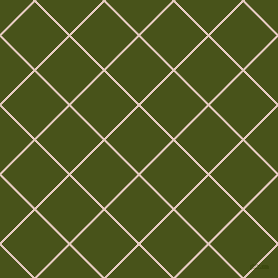 45/135 degree angle diagonal checkered chequered lines, 4 pixel line width, 92 pixel square size, Dust Storm and Verdun Green plaid checkered seamless tileable