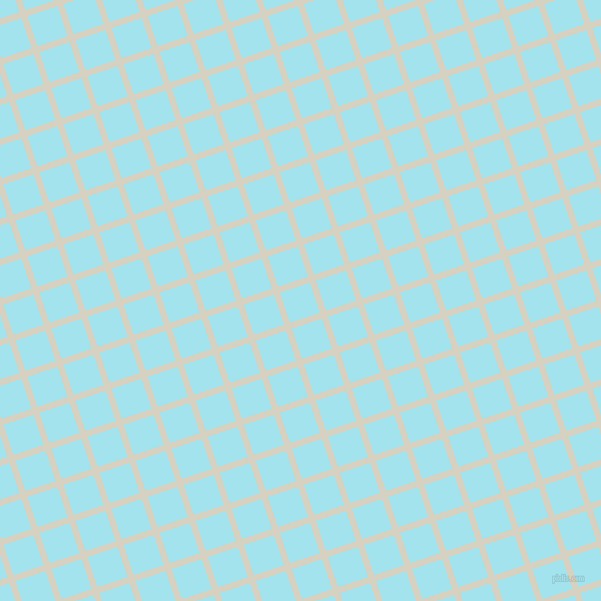 18/108 degree angle diagonal checkered chequered lines, 7 pixel line width, 35 pixel square size, Ecru White and Blizzard Blue plaid checkered seamless tileable