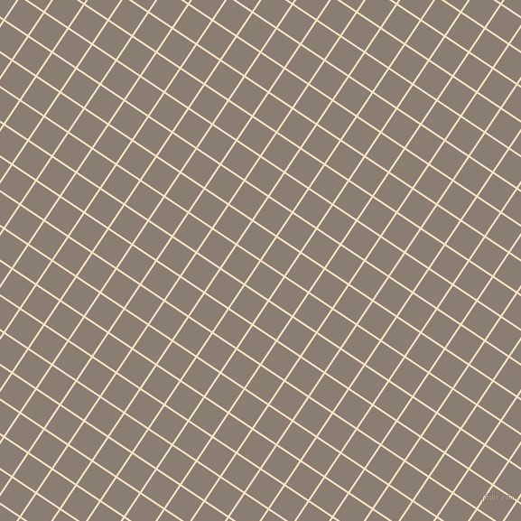 56/146 degree angle diagonal checkered chequered lines, 2 pixel lines width, 30 pixel square size, Egg Sour and Americano plaid checkered seamless tileable