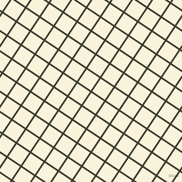 56/146 degree angle diagonal checkered chequered lines, 6 pixel lines width, 53 pixel square size, El Paso and Off Yellow plaid checkered seamless tileable