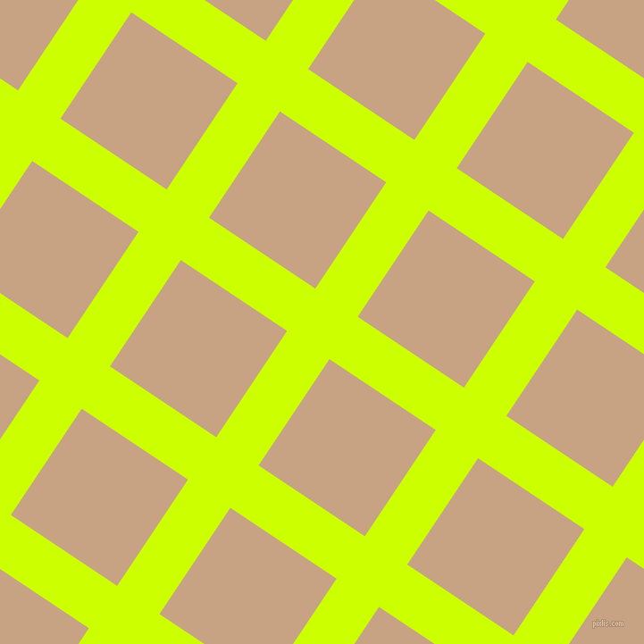 56/146 degree angle diagonal checkered chequered lines, 57 pixel lines width, 143 pixel square size, Electric Lime and Rodeo Dust plaid checkered seamless tileable