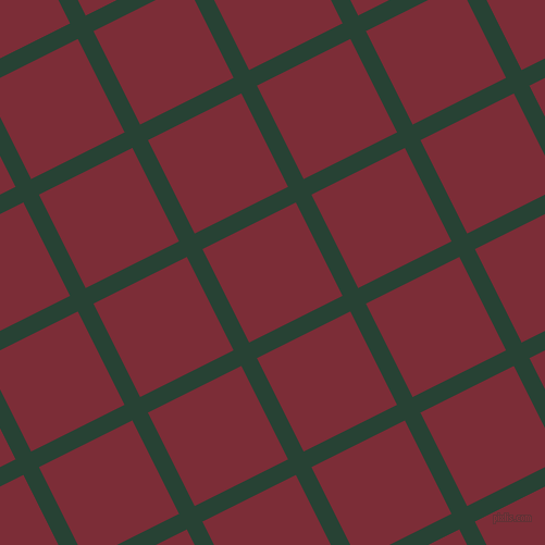 27/117 degree angle diagonal checkered chequered lines, 16 pixel line width, 96 pixel square size, English Holly and Paprika plaid checkered seamless tileable