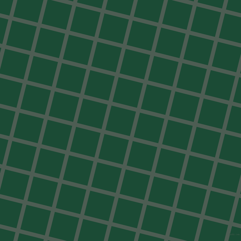 76/166 degree angle diagonal checkered chequered lines, 14 pixel line width, 88 pixel square size, Feldgrau and County Green plaid checkered seamless tileable