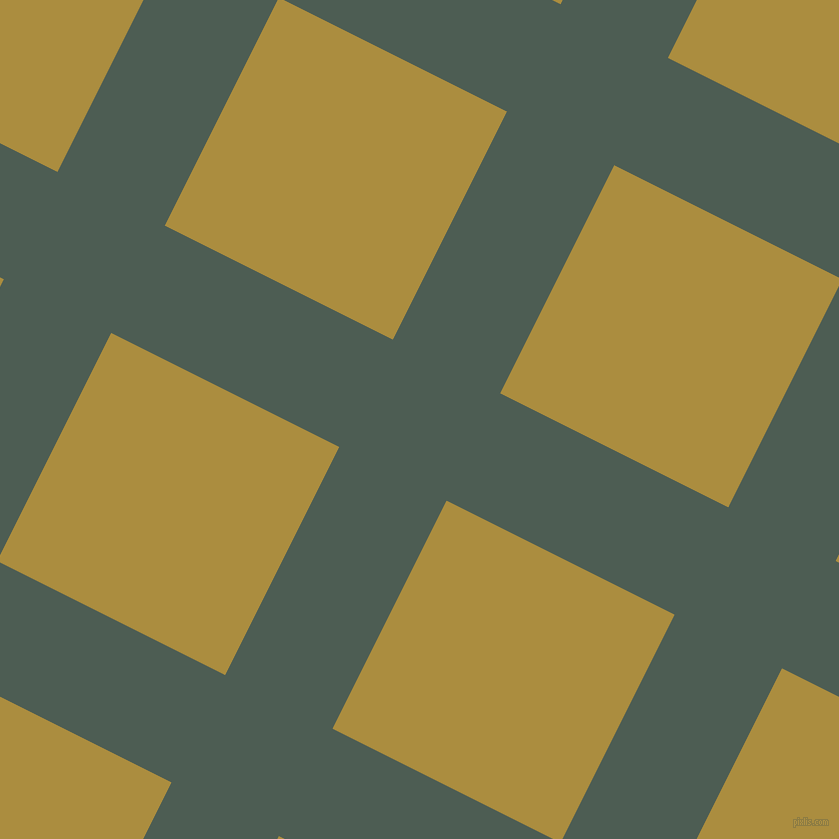 63/153 degree angle diagonal checkered chequered lines, 120 pixel lines width, 255 pixel square sizeFeldgrau and Luxor Gold plaid checkered seamless tileable