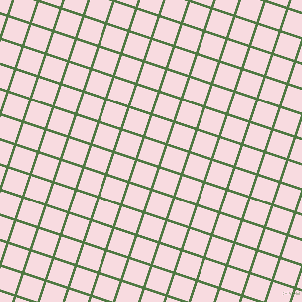 72/162 degree angle diagonal checkered chequered lines, 5 pixel lines width, 43 pixel square sizeFern Green and Carousel Pink plaid checkered seamless tileable