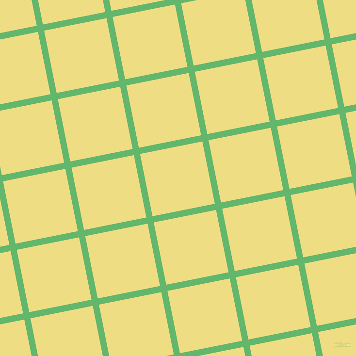 11/101 degree angle diagonal checkered chequered lines, 13 pixel lines width, 131 pixel square size, Fern and Light Goldenrod plaid checkered seamless tileable