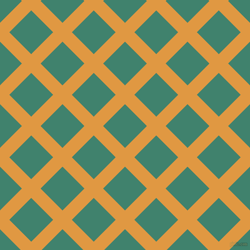 Yellow Checkered Rug: Fire Bush And Viridian Plaid Checkered Seamless Tileable