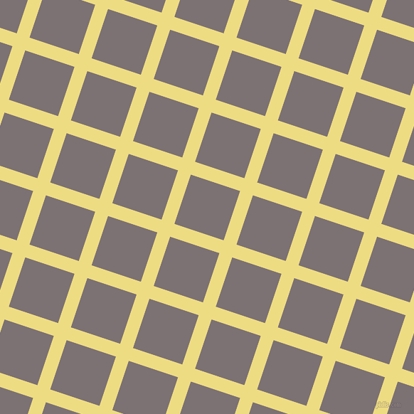 72/162 degree angle diagonal checkered chequered lines, 19 pixel line width, 73 pixel square size, Flax and Empress plaid checkered seamless tileable