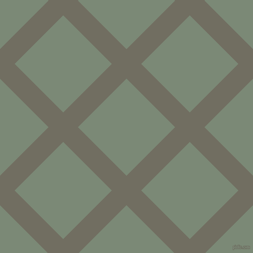 45/135 degree angle diagonal checkered chequered lines, 43 pixel line width, 142 pixel square size, Flint and Spanish Green plaid checkered seamless tileable