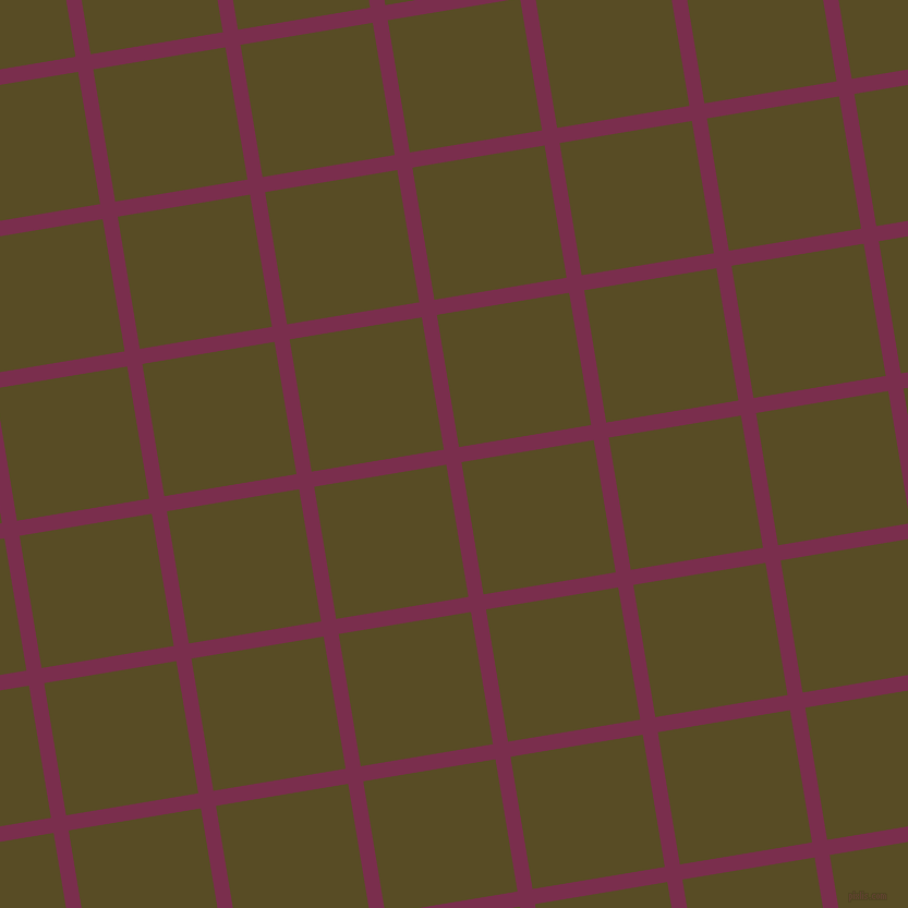 9/99 degree angle diagonal checkered chequered lines, 14 pixel lines width, 123 pixel square size, Flirt and Bronze Olive plaid checkered seamless tileable