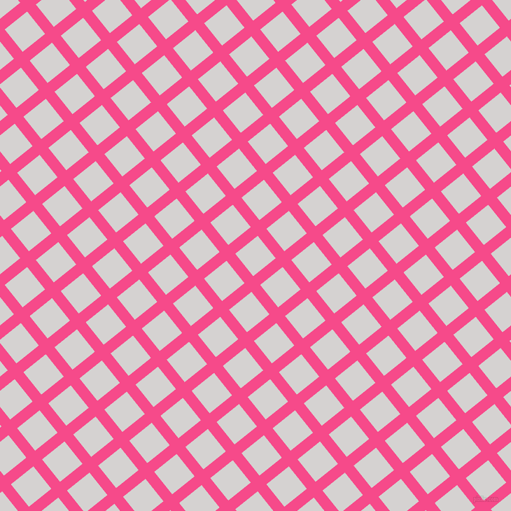 39/129 degree angle diagonal checkered chequered lines, 16 pixel lines width, 41 pixel square size, French Rose and Mercury plaid checkered seamless tileable