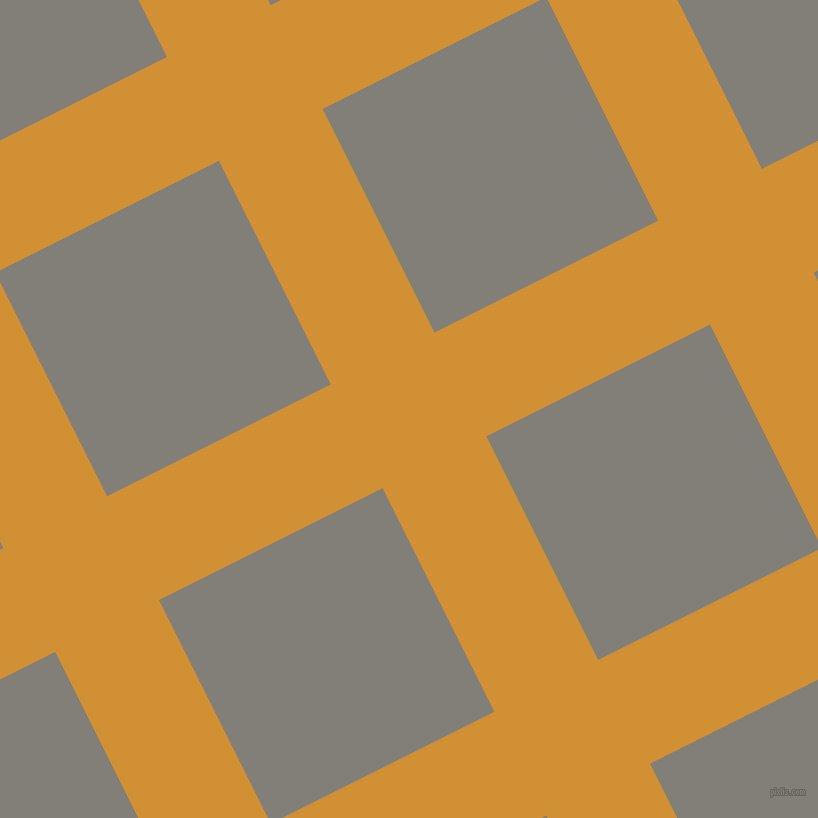 27/117 degree angle diagonal checkered chequered lines, 116 pixel line width, 250 pixel square size, Fuel Yellow and Concord plaid checkered seamless tileable