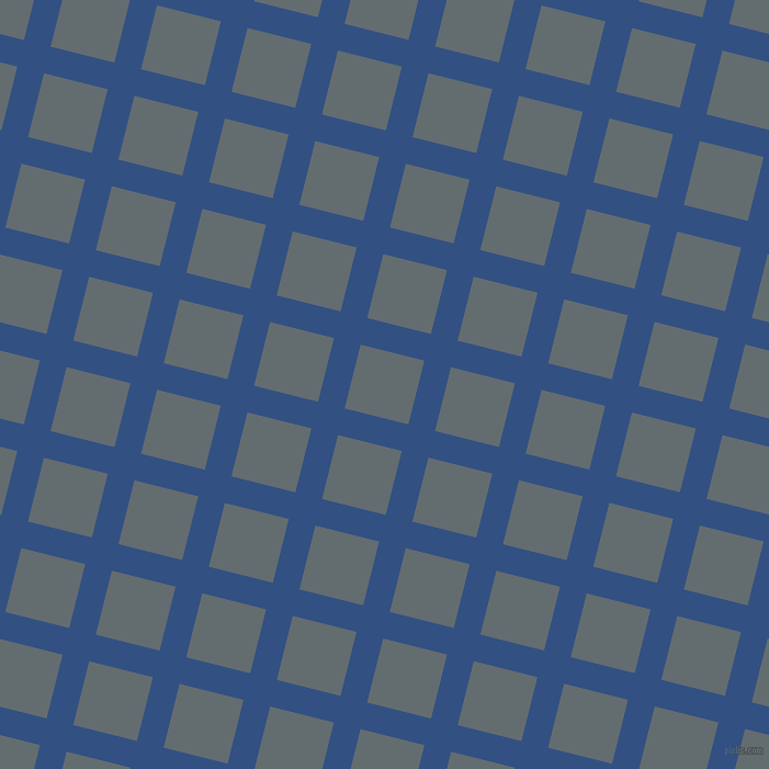 76/166 degree angle diagonal checkered chequered lines, 25 pixel line width, 60 pixel square size, Fun Blue and Pale Sky plaid checkered seamless tileable