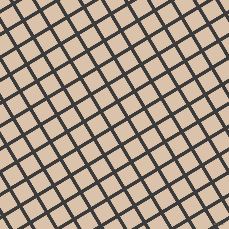 31/121 degree angle diagonal checkered chequered lines, 12 pixel line width, 56 pixel square size, Fuscous Grey and Bone plaid checkered seamless tileable