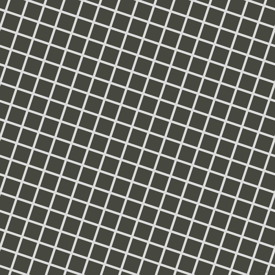 72/162 degree angle diagonal checkered chequered lines, 8 pixel line width, 51 pixel square size, Gainsboro and Heavy Metal plaid checkered seamless tileable