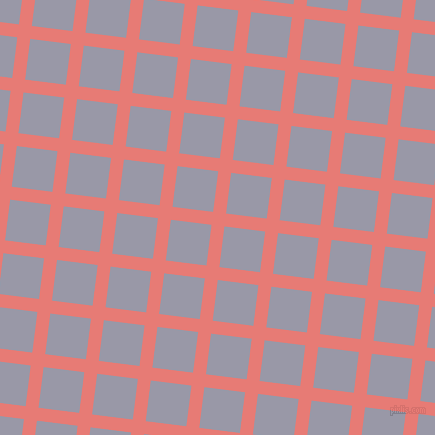 83/173 degree angle diagonal checkered chequered lines, 13 pixel lines width, 41 pixel square size, Geraldine and Santas Grey plaid checkered seamless tileable