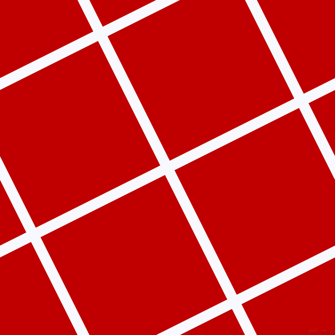 27/117 degree angle diagonal checkered chequered lines, 21 pixel line width, 275 pixel square size, Ghost White and Free Speech Red plaid checkered seamless tileable