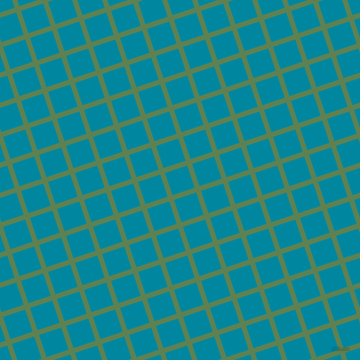 18/108 degree angle diagonal checkered chequered lines, 10 pixel line width, 47 pixel square size, Glade Green and Eastern Blue plaid checkered seamless tileable