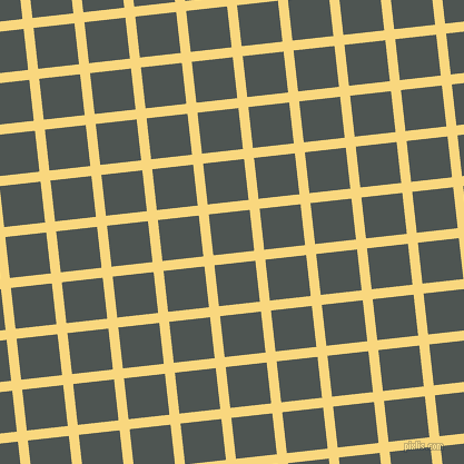6/96 degree angle diagonal checkered chequered lines, 9 pixel line width, 37 pixel square size, Golden Glow and Cape Cod plaid checkered seamless tileable