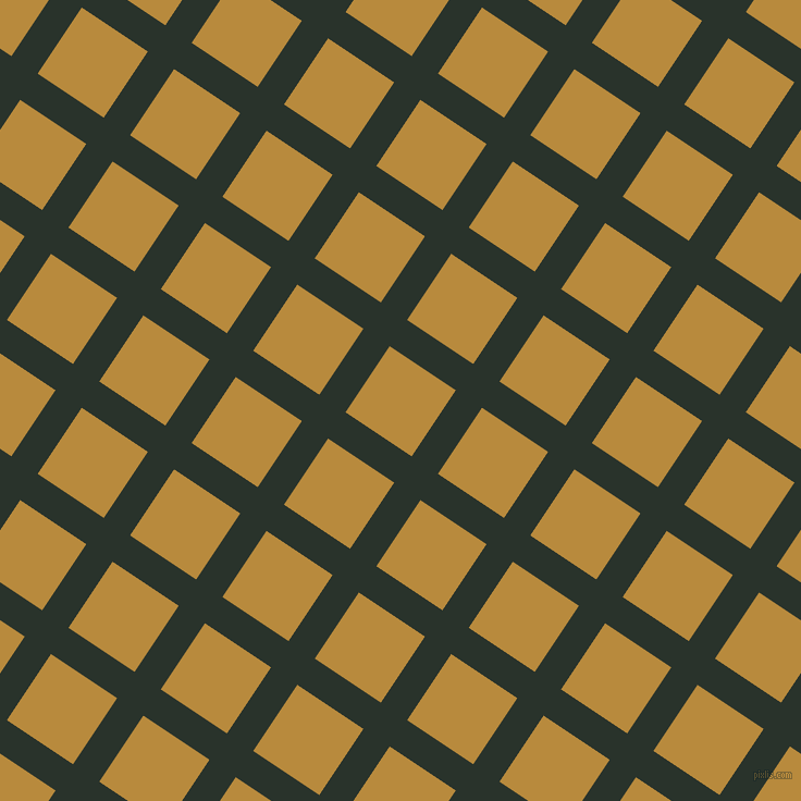 56/146 degree angle diagonal checkered chequered lines, 29 pixel lines width, 73 pixel square size, Gordons Green and Marigold plaid checkered seamless tileable