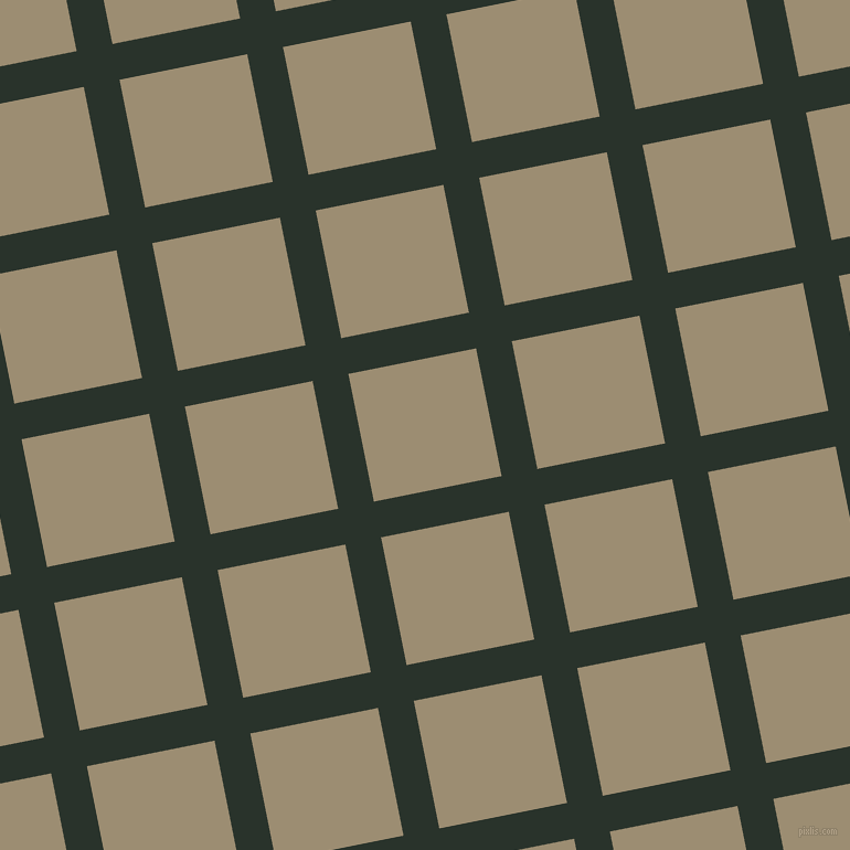 11/101 degree angle diagonal checkered chequered lines, 33 pixel lines width, 118 pixel square size, Gordons Green and Pale Oyster plaid checkered seamless tileable