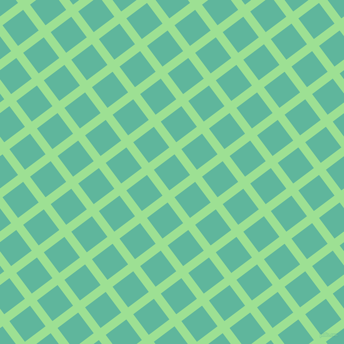 37/127 degree angle diagonal checkered chequered lines, 17 pixel lines width, 51 pixel square size, Granny Smith Apple and Keppel plaid checkered seamless tileable