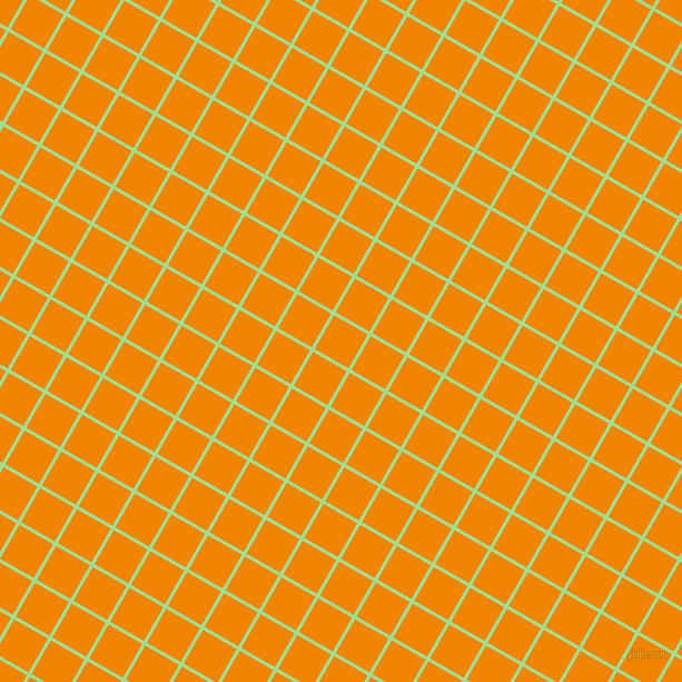60/150 degree angle diagonal checkered chequered lines, 3 pixel line width, 35 pixel square size, Granny Smith Apple and Tangerine plaid checkered seamless tileable