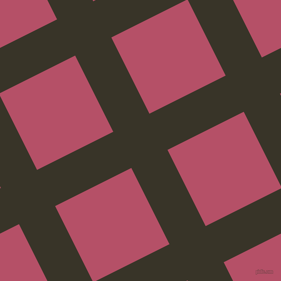 27/117 degree angle diagonal checkered chequered lines, 83 pixel lines width, 175 pixel square sizeGraphite and Blush plaid checkered seamless tileable
