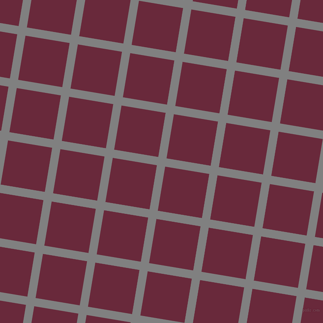 81/171 degree angle diagonal checkered chequered lines, 17 pixel line width, 91 pixel square size, Grey and Siren plaid checkered seamless tileable
