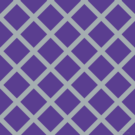 45/135 degree angle diagonal checkered chequered lines, 17 pixel line width, 67 pixel square size, Gull Grey and Daisy Bush plaid checkered seamless tileable