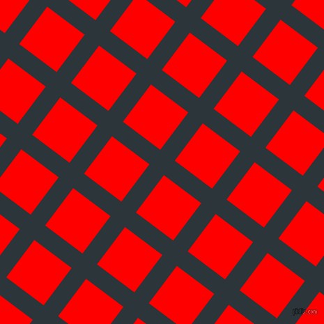 53/143 degree angle diagonal checkered chequered lines, 26 pixel line width, 67 pixel square size, Gunmetal and Red plaid checkered seamless tileable
