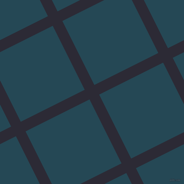 27/117 degree angle diagonal checkered chequered lines, 36 pixel line width, 239 pixel square size, Haiti and Teal Blue plaid checkered seamless tileable