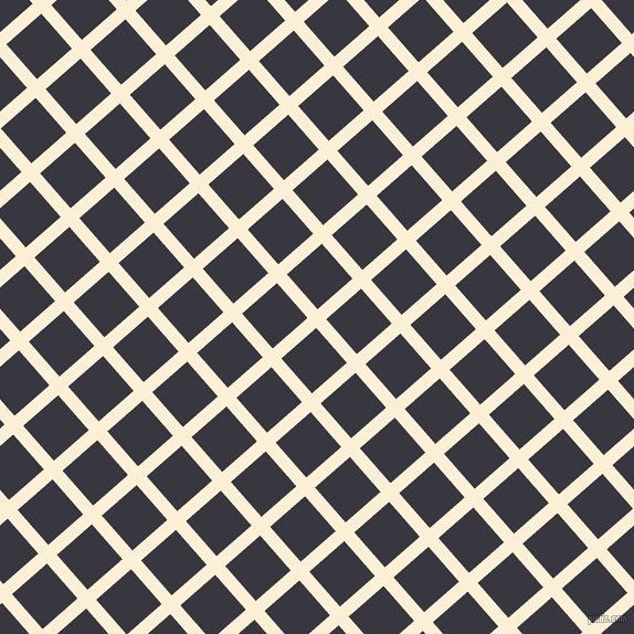 41/131 degree angle diagonal checkered chequered lines, 12 pixel line width, 42 pixel square size, Half Dutch White and Black Marlin plaid checkered seamless tileable