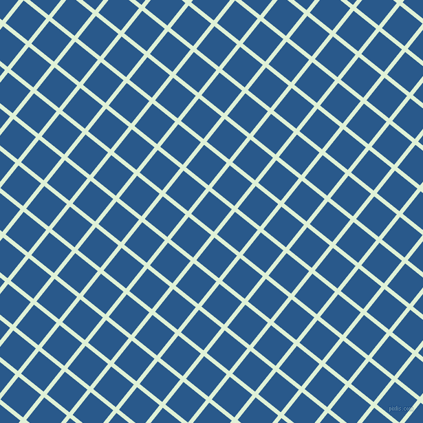 51/141 degree angle diagonal checkered chequered lines, 6 pixel lines width, 42 pixel square size, Hint Of Green and Endeavour plaid checkered seamless tileable