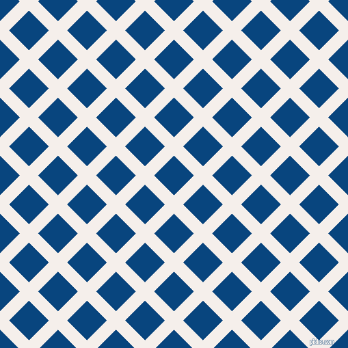 45/135 degree angle diagonal checkered chequered lines, 19 pixel lines width, 41 pixel square size, Hint Of Red and Dark Cerulean plaid checkered seamless tileable