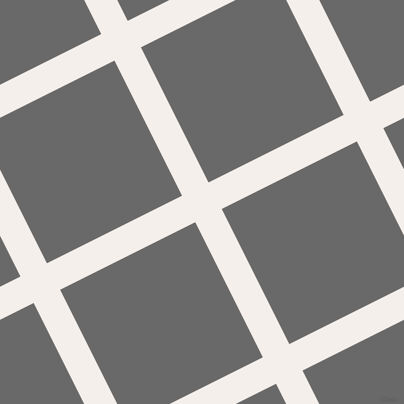 27/117 degree angle diagonal checkered chequered lines, 59 pixel lines width, 301 pixel square size, Hint Of Red and Dim Gray plaid checkered seamless tileable