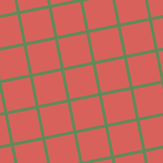 11/101 degree angle diagonal checkered chequered lines, 10 pixel line width, 96 pixel square size, Hippie Green and Roman plaid checkered seamless tileable