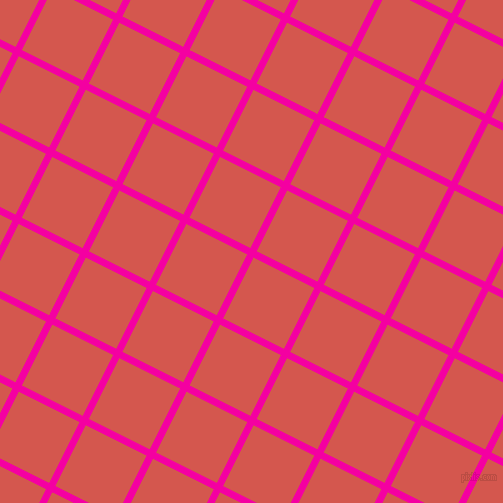 63/153 degree angle diagonal checkered chequered lines, 7 pixel line width, 68 pixel square size, Hollywood Cerise and Valencia plaid checkered seamless tileable