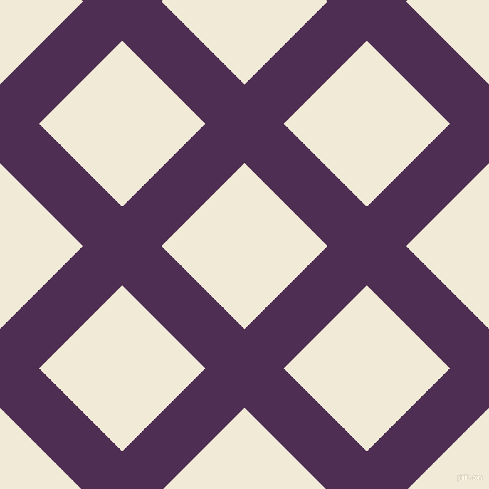 45/135 degree angle diagonal checkered chequered lines, 78 pixel lines width, 165 pixel square size, Hot Purple and Half Pearl Lusta plaid checkered seamless tileable