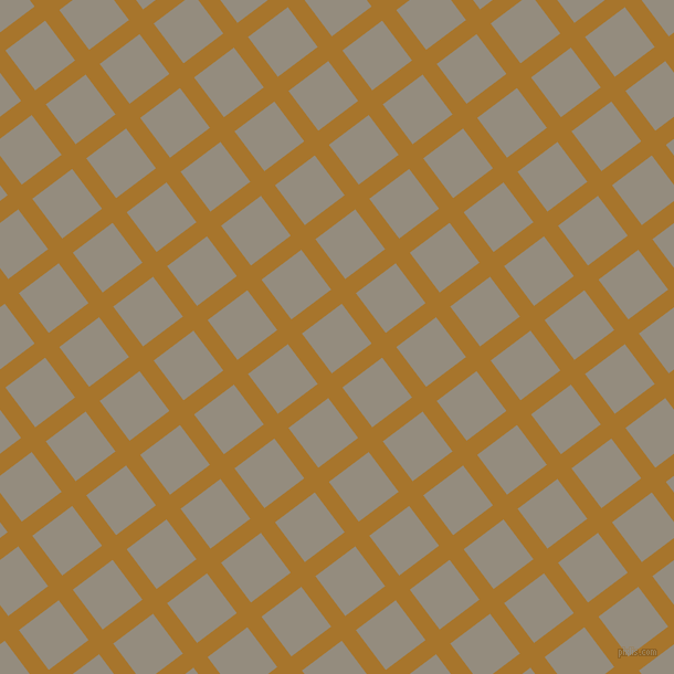 37/127 degree angle diagonal checkered chequered lines, 16 pixel line width, 45 pixel square size, Hot Toddy and Heathered Grey plaid checkered seamless tileable