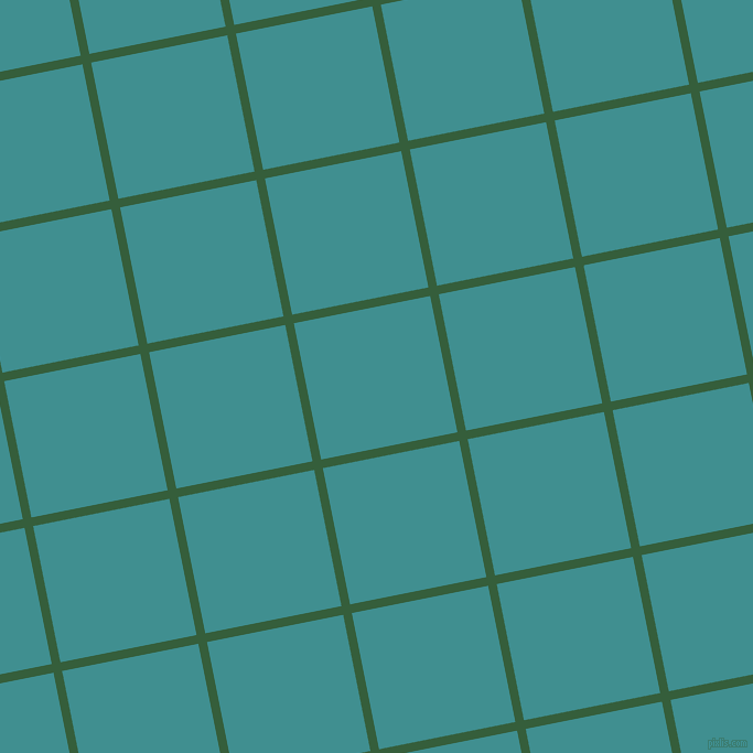 11/101 degree angle diagonal checkered chequered lines, 8 pixel line width, 126 pixel square size, Hunter Green and Blue Chill plaid checkered seamless tileable