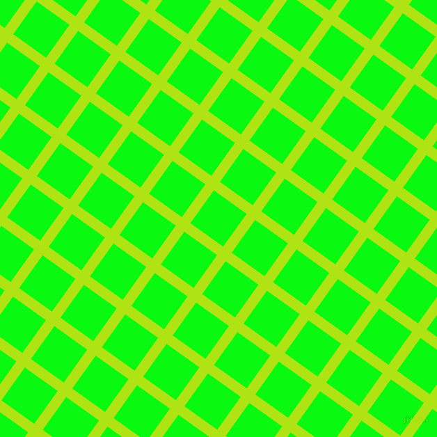 54/144 degree angle diagonal checkered chequered lines, 15 pixel line width, 58 pixel square size, Inch Worm and Free Speech Green plaid checkered seamless tileable