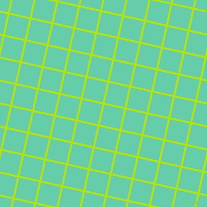 77/167 degree angle diagonal checkered chequered lines, 4 pixel lines width, 40 pixel square size, Inch Worm and Medium Aquamarine plaid checkered seamless tileable