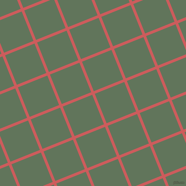 22/112 degree angle diagonal checkered chequered lines, 9 pixel lines width, 102 pixel square size, Indian Red and Finlandia plaid checkered seamless tileable