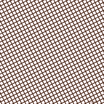 27/117 degree angle diagonal checkered chequered lines, 3 pixel line width, 11 pixel square size, Indian Tan and Lavender Blush plaid checkered seamless tileable