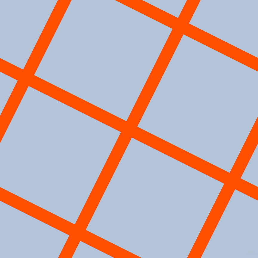63/153 degree angle diagonal checkered chequered lines, 41 pixel lines width, 346 pixel square size, International Orange and Spindle plaid checkered seamless tileable