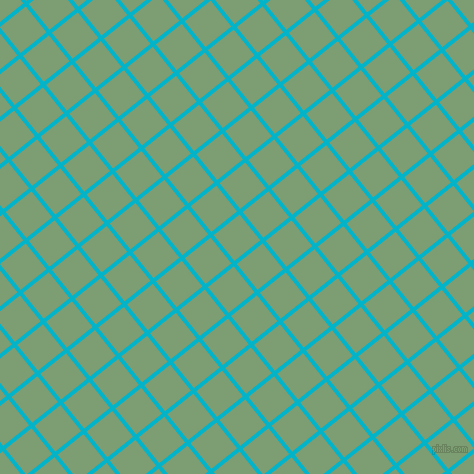 39/129 degree angle diagonal checkered chequered lines, 4 pixel lines width, 33 pixel square size, Iris Blue and Amulet plaid checkered seamless tileable