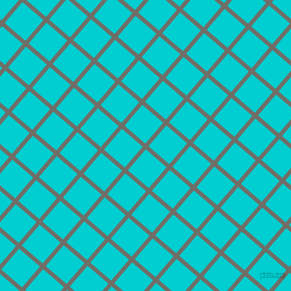 49/139 degree angle diagonal checkered chequered lines, 6 pixel line width, 40 pixel square size, Ironside Grey and Dark Turquoise plaid checkered seamless tileable