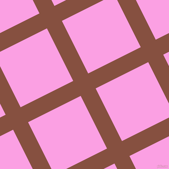 27/117 degree angle diagonal checkered chequered lines, 56 pixel lines width, 197 pixel square size, Ironstone and Lavender Rose plaid checkered seamless tileable