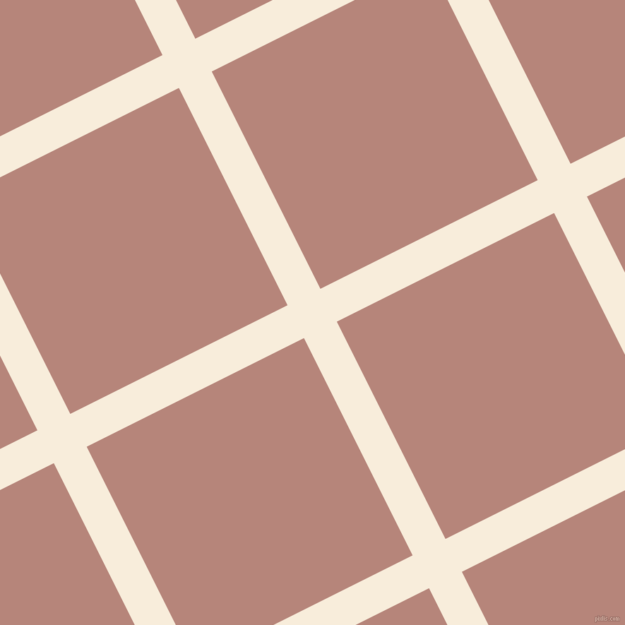 27/117 degree angle diagonal checkered chequered lines, 52 pixel line width, 344 pixel square size, Island Spice and Brandy Rose plaid checkered seamless tileable